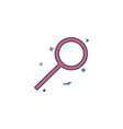 glass search zoom magnifying glass icon design vector image