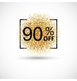 Gold big sale background in frame vector image vector image