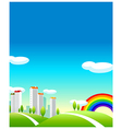 Green Landscape And buildings vector image vector image