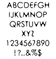 Hand crafted retro font alphabet scratch gothic vector image vector image