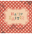 Happy easter retro greeting card vector image