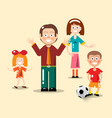 happy family flat design man woman boy with vector image vector image