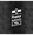 Happy halloween greeting card with badges ang vector image vector image