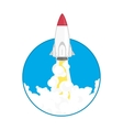 launch a space rocket vector image vector image