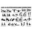 legs and glutes building exercise and muscle vector image vector image