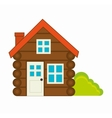 log cabin camping icon vector image vector image