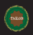 logo tailor vector image vector image
