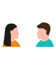 man and a woman are looking at each other vector image
