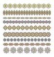 Mandala seamless pattern bordersstrips background
