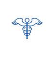 medicine sign line icon concept medicine sign vector image vector image