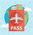 Modern flat design web icon on airline tickets vector image