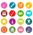musical instruments icons set colorful circles vector image vector image