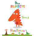 number 4 in form a dinosaur vector image vector image