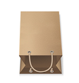 Paper Bag isolated on white vector image vector image