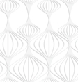 Paper white striped Chinese lanterns vector image