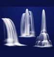realistic waterfalls set vector image vector image