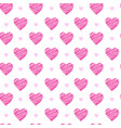 seamless pattern with pink valentines hearts vector image