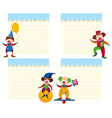 set circus note template vector image