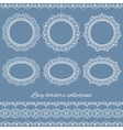 set collections vintage lacy borders and frames vector image vector image
