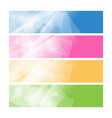 set of colorful polygonal banners vector image vector image