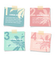 set of stick notes papers with silhouette of palm vector image vector image
