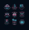 set original emblems for surfing club vector image vector image