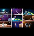 set space scenes vector image vector image