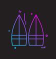 skate board icon design vector image
