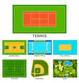 sport game field ground line playground vector image