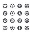 stars set icons vector image vector image