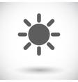 Sun single flat icon vector image vector image