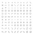 thin line arrow icons set vector image vector image