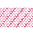 valentine seamless polka dot pattern with hearts vector image vector image