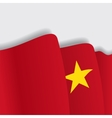 Vietnamese waving Flag vector image vector image