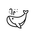 whale icon fish vector image