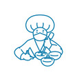 working as a cook linear icon concept working as vector image