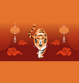year tiger vector image