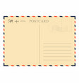 vintage postcard template retro airmail envelope vector image