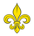 royal french lily icon cartoon vector image
