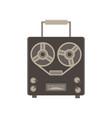 recorder audio retro icon player vintage vector image