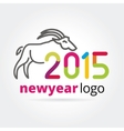 2015 goat logotype isolated on white background vector image vector image