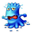 A blue monster trying to escape vector image vector image