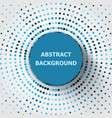 abstract background with circles halftone vector image vector image