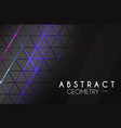 abstract geometric background with neon lights vector image