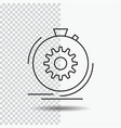 action fast performance process speed line icon vector image