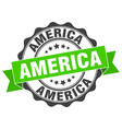 america round ribbon seal vector image vector image