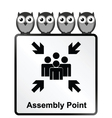 Assembly Point Sign vector image vector image