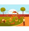 banner of playground or kindergarten view vector image