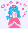 Beauty princess vector image