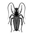 black cockroach in gas mask vector image vector image